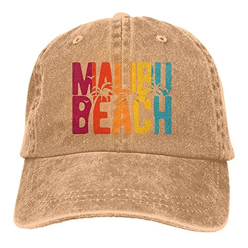 Leumius California Malibu Beach-2 Sombreros, Gorra de béisbol ajustable de algodón para papá, gorra de golf