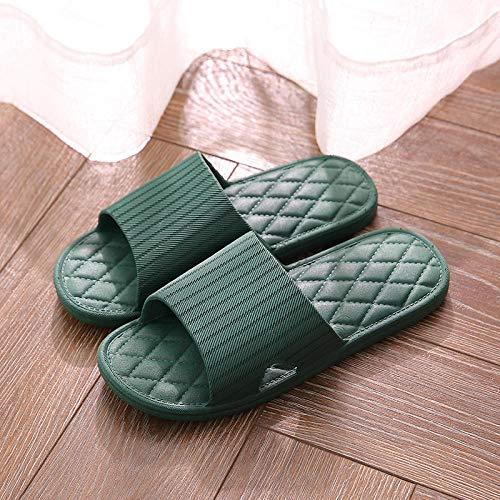 TDYSDYN De Espuma Suave Zapatos De Piscina,Par de Sandalias y Zapatillas de pcv, Zapatillas de baño de plástico-A1 Verde Militar_36-37