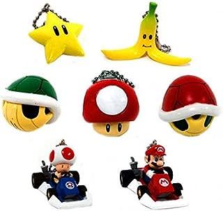 Super Mario Kart DS Set of 7 Micro Keychains [Toy]