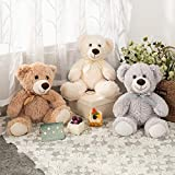 MaoGoLan Teddy Bear Stuffed Animals Plush Toys 3-Pack of Stuffed Bears 3 Colors White/Grey/Tan 13.5 Inch