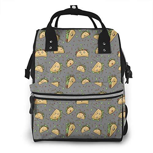 Crazy Tacos Amber Morgan impermeable multifunción bolsa de pañales mochila de viaje para el cuidado del bebé, bolsas de pañales, gran capacidad, elegante y duradero