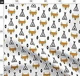 Tipi, Füchse, Fuchs, Baby, Tier, Südwesten Stoffe -