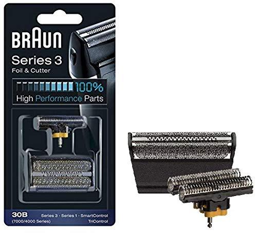 Braun 30B Series 3 Cassette Scherfolie und Scherkopf, für die alte Version von SmartControl, SyncroPro, Syncro, TriControl, für 4735 4775 4875 4835 7505 7630 7680 7790