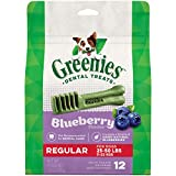 GREENIES Blueberry Natural Dental Dog Treats, 12oz...
