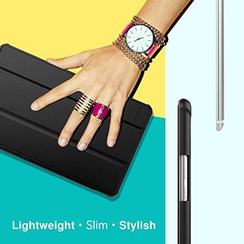 MoKo Huawei MediaPad M5 8.4 Hülle - Ultra Slim Lightweight Schutzhülle Smart Cover Standfunktion für Huawei MediaPad M5 8.4 Inch 2018 Tablet mit Auto Wake/Sleep Funktion, Schwarz - 5