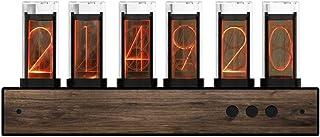 Nixie Tube Horloge Digitale Horloge Num/érique Moderne Cr/éative Ref r/étro Glow Art Horloge Avec LED Pour Cadeau Romantique