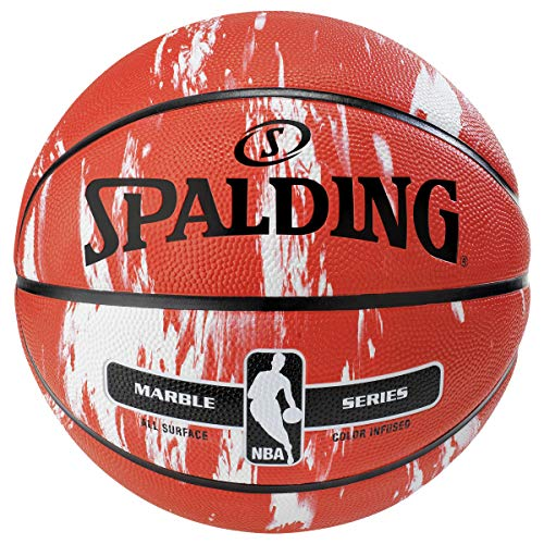 """Spalding NBA Marble Series Red Outdoor Basketball 29.5"""""""