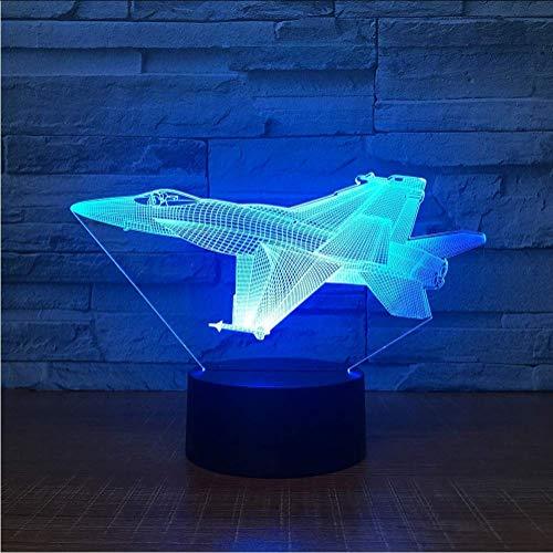 Preisvergleich Produktbild Flugzeug Acryl Led 3D Nachtlicht Spielzeug Lampe Flugzeug Modell Usb Tisch Schreibtisch Licht Dc5V Für Kind Weihnachtsgeschenk