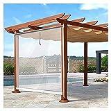 XJJUN Transparente Rollos, Wasserdichter Regendichter Outdoor-Sonnenschutz Reißfestigkeit UV-beständig, Für Pavillon-Garten (Color : Klar, Size : 0.6x2m)