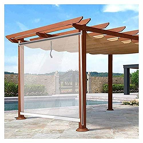 XJJUN Transparente Rollos, Wasserdichter Regendichter Outdoor-Sonnenschutz Reißfestigkeit UV-beständig, Für Pavillon-Garten (Color : Klar, Size : 0.75x3m)