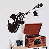 HGFDHG Etiqueta engomada de la Pared de la Guitarra de la música Creativa de la Escuela de la calcomanía del Vinilo del Art Deco Fresco de la Sala de Estar decoración de la Pared del Fondo del sofá