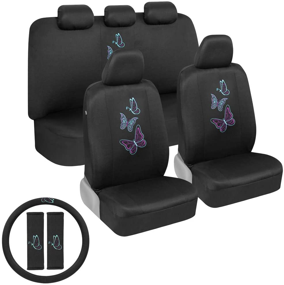 BDK Blue Max 52% OFF Butterflies Car Seat Covers Max 44% OFF with Full Set for St Women
