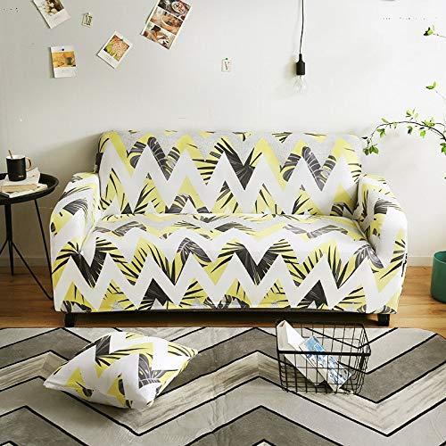 ASCV Funda de sofá geométrica elástica elástica Moderna Funda de sofá para Silla Fundas de sofá para Sala de Estar Protector de Muebles A7 4 plazas