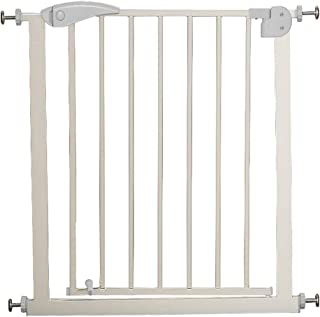 75cm-82cm Child Safety Door Fence  Gray  Free Punching  Staircase Balcony Isolation Fence  Automatic Closing Security Fence pet Dog Isolation Fence  Color 75cm-82cm