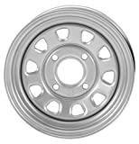 ITP Delta Steel Wheel - 12x7 - 4+3 Offset - 4/110 - Silver , Bolt Pattern: 4/110, Rim Offset: 4+3, Wheel Rim Size: 12x7, Color: Silver, Position: Front/Rear 1221753032