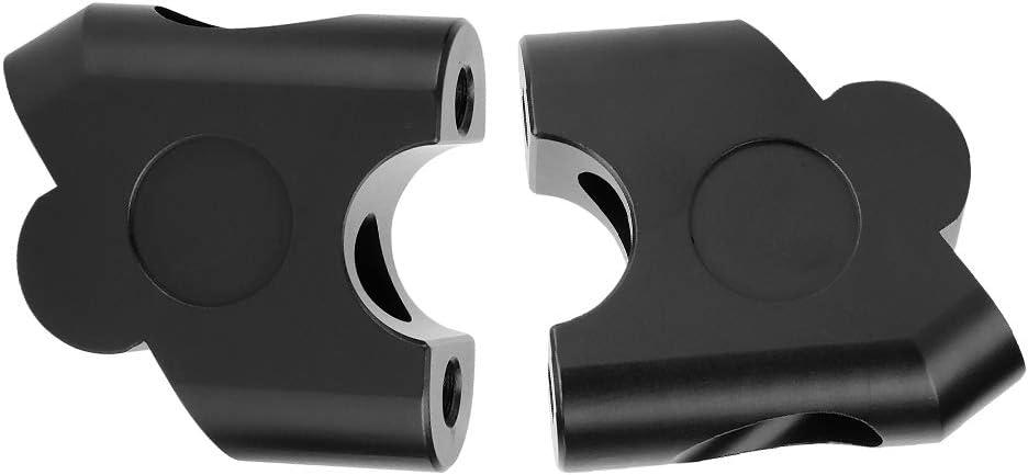 22mm 7//8inch Kit riser manubrio per manubrio per moto universale per riser manubrio Kit di accessori per adattatore per montaggio posteriore Riser per manubrio Black
