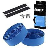 EMPT(イーエムピーティー) EVA ロード用 バーテープ ES-JHT020 クッション製に優れたEVA製バーテープ ロード ピスト ドロップハンドルバーテープ ※エンドキャップ、エンドテープ付属 (青(ブルー))