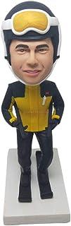 Sci Regalo personalizzato Sci personalizzato Bobble Head Compleanno Torta Topper Marito Regalo da sci Fidanzato Regalo di ...