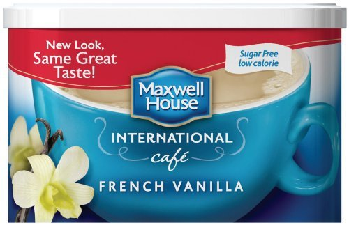 Maxwell House International Coffee Sugar Free French Vanilla Cafe (Pack of 12)