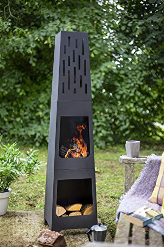 Oxford Barbecues Contemporary Steel Chiminea Patio Heater