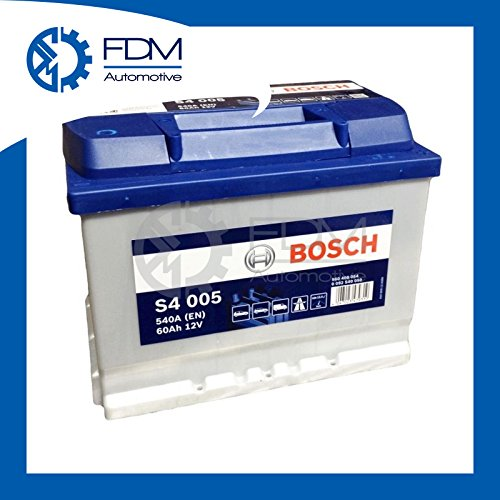 SMC, Bosch Silver Autobatterie S4 005, 60 Ah, 540 A, 12 V. Professionell, betriebsbereit