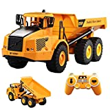 HMANE 1/20 2.4G 2WD RC Articulated Dump Truck Remote Control Construction Model Car Electronic Simulation Engineering Vehicle Toys for Kids Boys