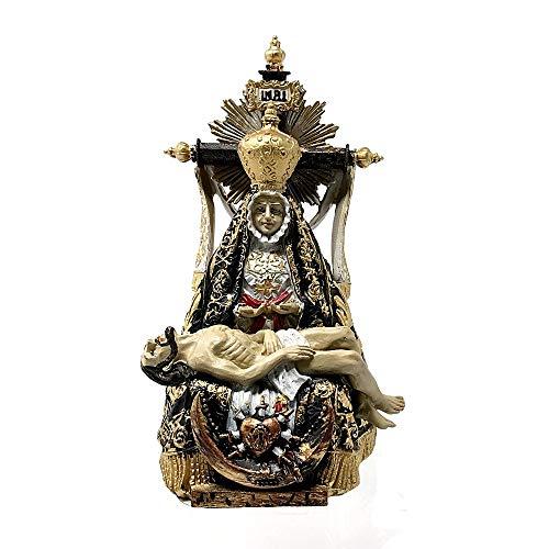Inmaculada Romero IR Figura Virgen De Las Angustias Imagen 15Cm. Adorno Silueta Resina Peana Decoración