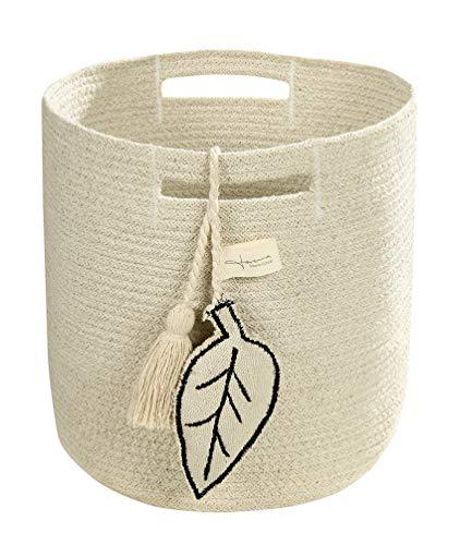 Lorena Canals Leaf Cesta, algodón, Natural, 30x 30x 30cm