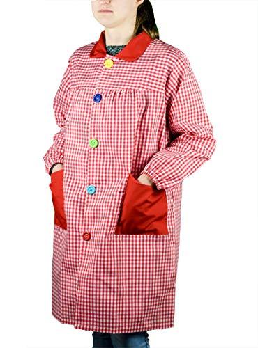 KLOTTZ 901C - BABI PROFESORA CUADROS BATA ESCOLAR mujer color: ROJO talla: S/M