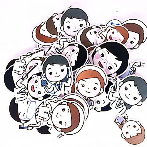 CHENX Dibujos Animados Lindo Enfermera Pegatinas Chica Mano Cuenta teléfono móvil Ordenador monopatín Casco Motocicleta Juguete para niños Pegatinas 41 Hojas