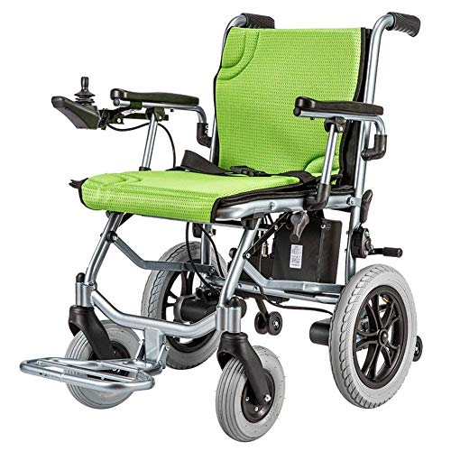FTFTO Inicio Accesorios Silla de Ruedas eléctrica para Ancianos discapacitados Luz de Control único Portátil Batería de Litio Hbld3C Scooter Plegable de Aluminio