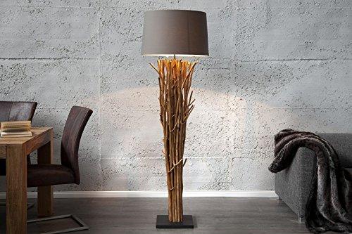*DuNord Design Stehleuchte FARO Treibholz 175 cm dunkelnatur grau-braun*