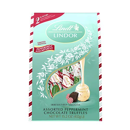 Lindt Holiday Assorted Peppermint Chocolate Truffles - 15.2oz