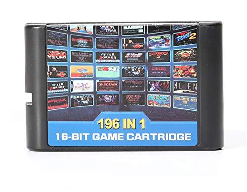 196 en in 1 Multi-Spiele-Karten-Patrone 16 Bit für Sega Mega Drive MD für PAL und NTSC