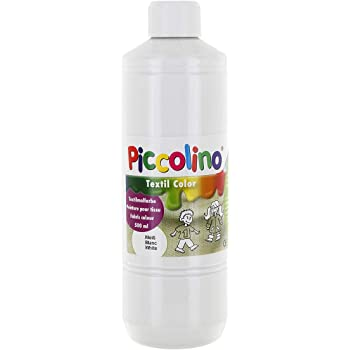 Piccolino - Pintura Textil, 500 ml, Color Blanco