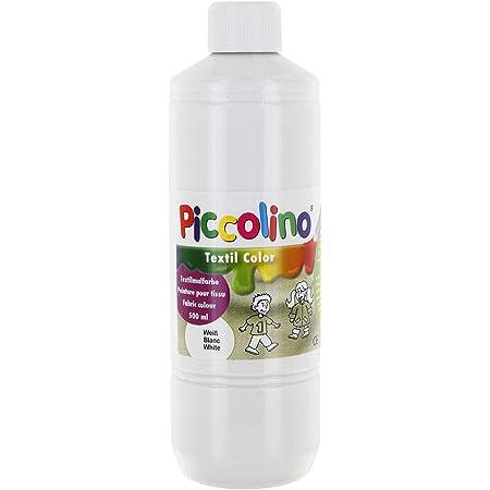 Piccolino - Pintura Textil, 500 ml, Color Blanco