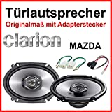 Clarion, 6 x 8inch loud speakers specially for Mazda,front and back doors