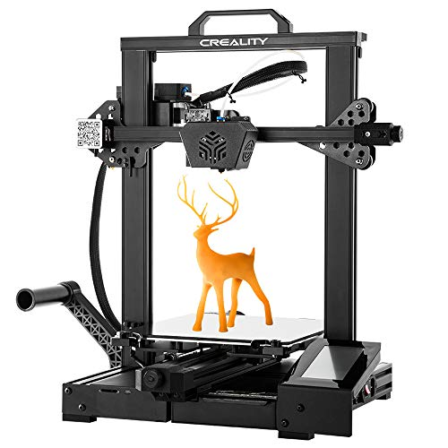 Comgrow Creality CR-6 SE 3D Printer Leveling-Free with Silent Motherboard, Meanwell Power Supply, Touch Screen,Tempered Glass Plate and Dual Z-axis Print Size 235x235x250mm