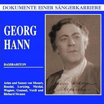Dokumente einer Sängerkarriere - Georg Hann