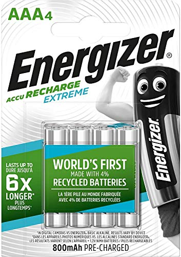 Energizer Rechargeable Batteries AAA, Recharge Extreme, Pack of 4