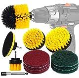 Kit de limpieza para cepillo de taladro, 12 piezas, limpiador de potencia y almohadillas de...