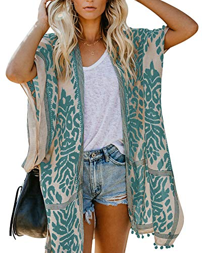 Uusollecy Damen Beach Cover Up Kimono Cardigan Sommer Strand Bikini Outwear