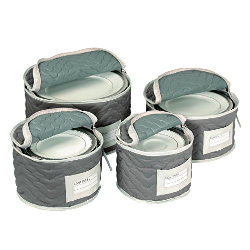 Our #7 Pick is the Richards Homewares Micro Fiber Deluxe Dinnerware Storage Set