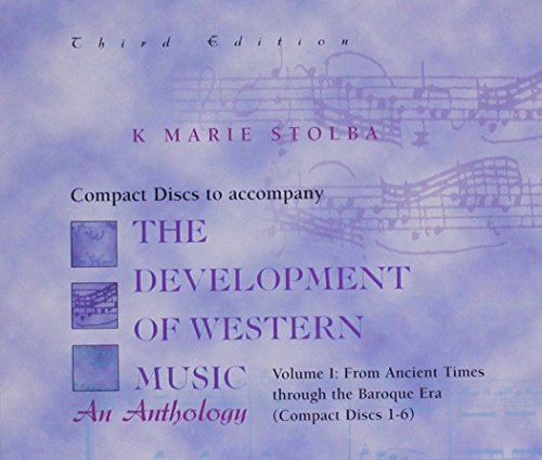 Compact Disk; Vol I for use with The Development Of Western Music