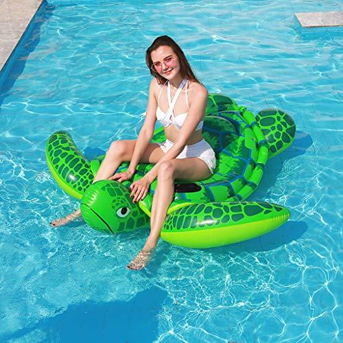 YMXYMM Aufblasbares Wasser Hängematte Schwimmbett,Lounge Chair Drifter Schwimmbad Beach Float Für Erwachsene,Leichter schwimmender Schwimmstuhl mit schwebender Reihe,175 * 175 * 35cm