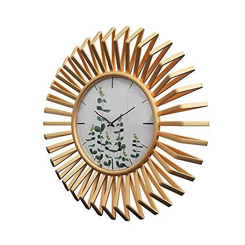 WJHCDDA Reloj De Pared Metálica Circular Sencilla Sala De E