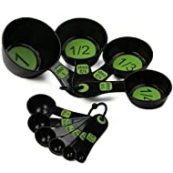 Chef Craft 42019 Measuring Cups, 10 Piece Set, Green