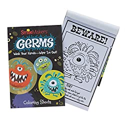 Germ Squad Coloring Books great to use as prizes and giveaways