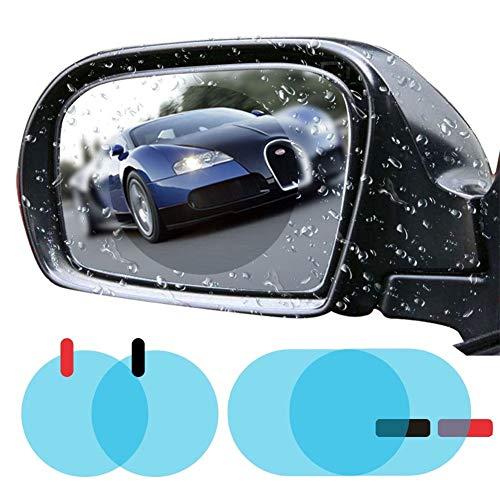 Film de rétroviseur de Voiture Imperméable à la Pluie Film de rétroviseur HD Clear Anti-Fog Nano Revêtement Films imperméables Film de Protection Anti-Rayures pour Voiture MirrorsSide Film de fenêtre