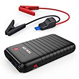 TENKER 500A 10800mAh Portable Car Jump Starter, Emergency Battery...